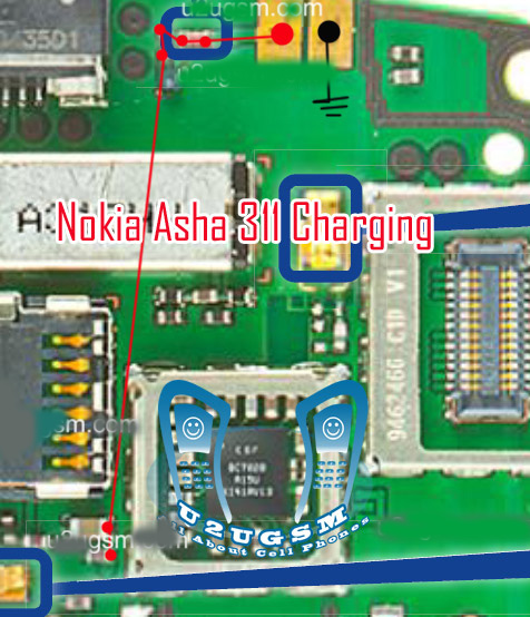 Nokia asha311 not charging solution