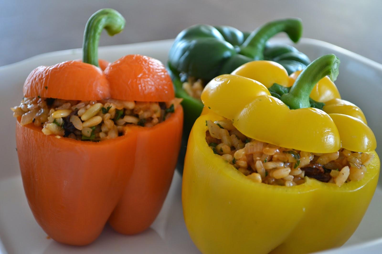 gevulde paprika vegetarisch rijst