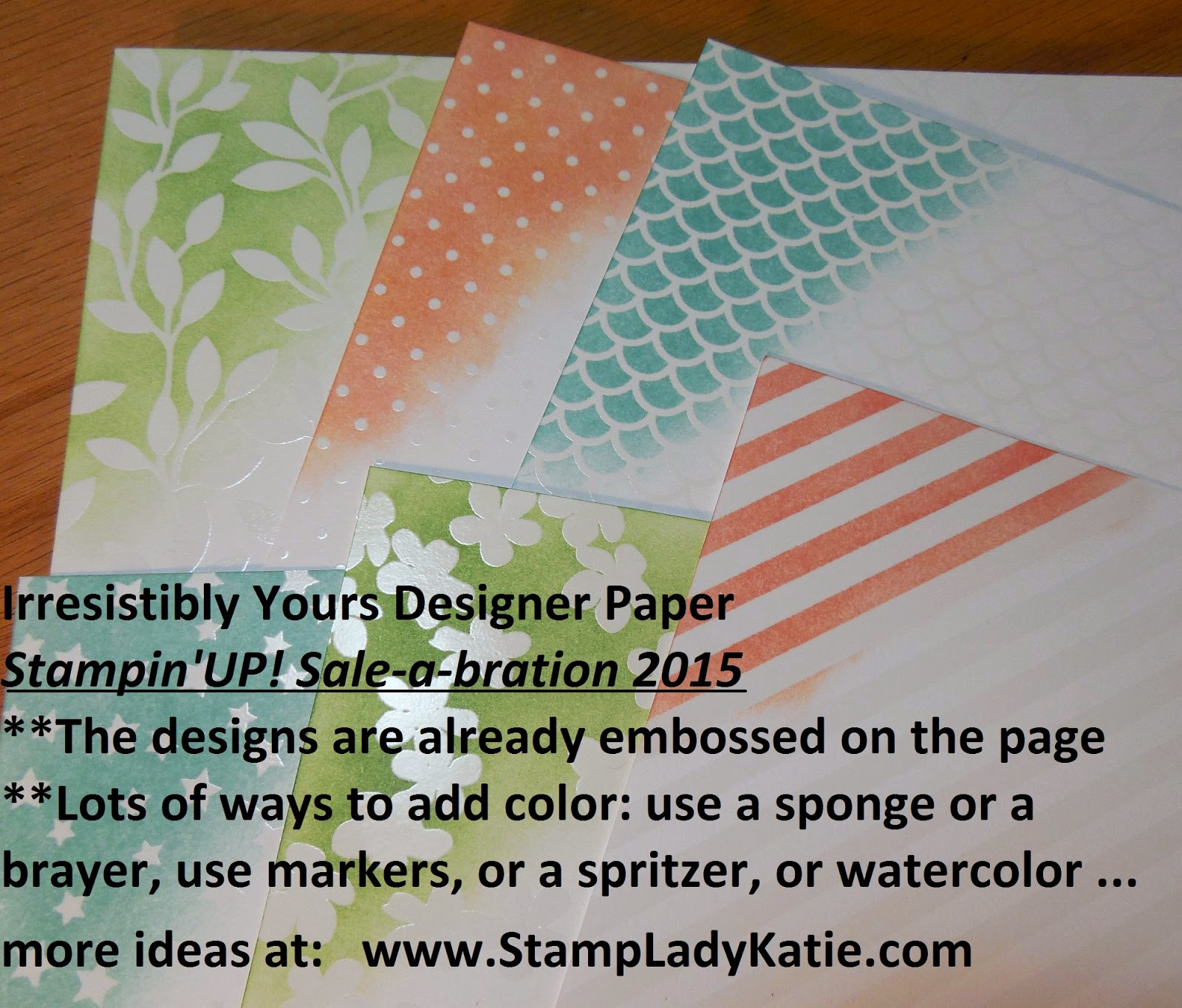 Stampin'UP!'s Irresistibly Yours DSP