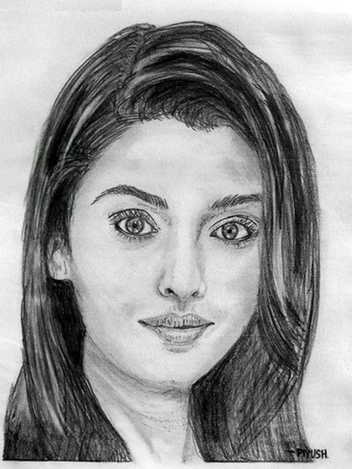 Aishwarya Roy pencil sketch