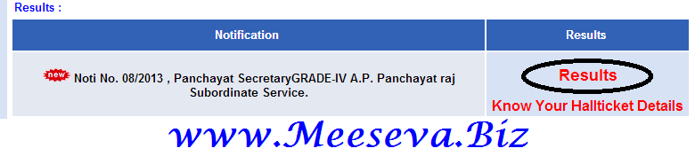 appsc panchayat secretary results