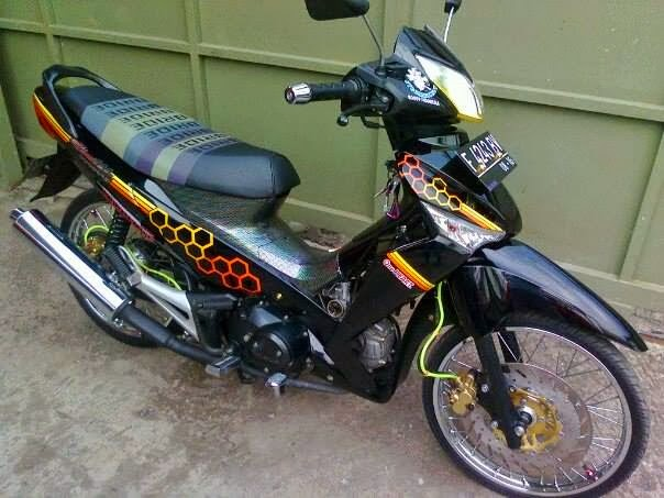 modifikasi motor supra x 125 simple