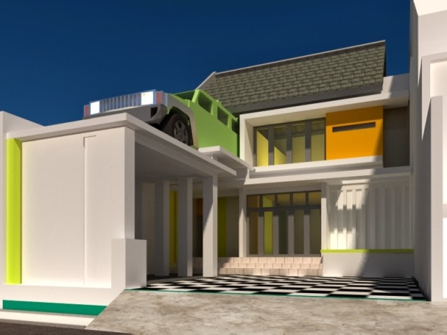 pilihan warna cat rumah minimalis tampak depan