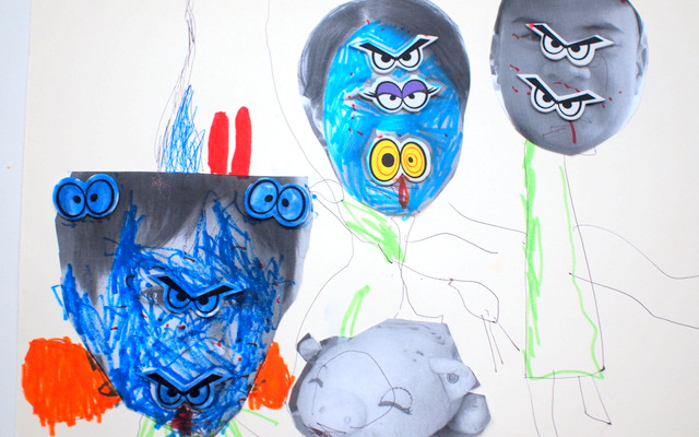 Spooky Monster Family Portraits- Easy Preschool Halloween Activity