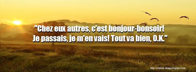 Citation bonjour pour facebook