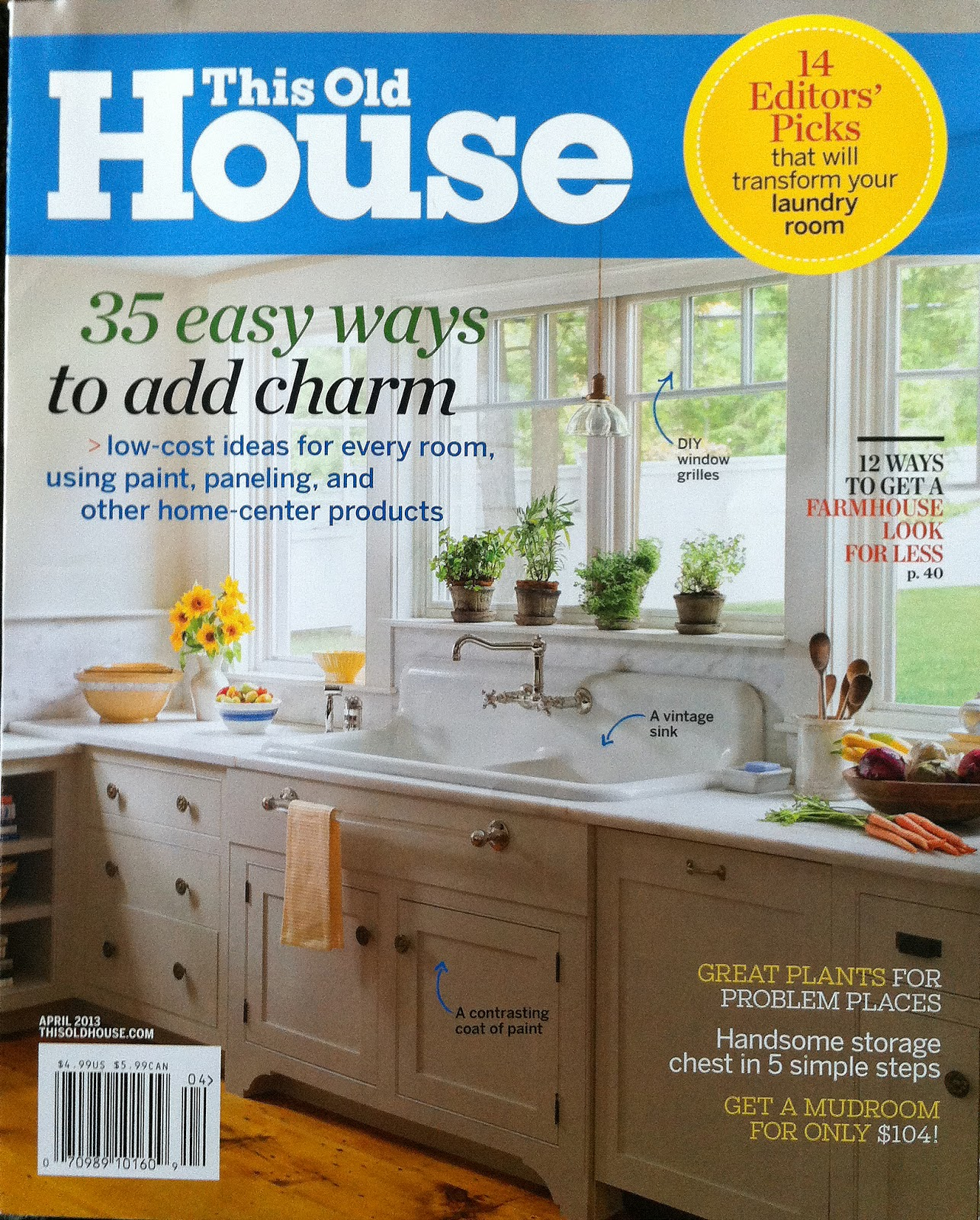 This old house april issue before after kitchen for Perfect kitchen description