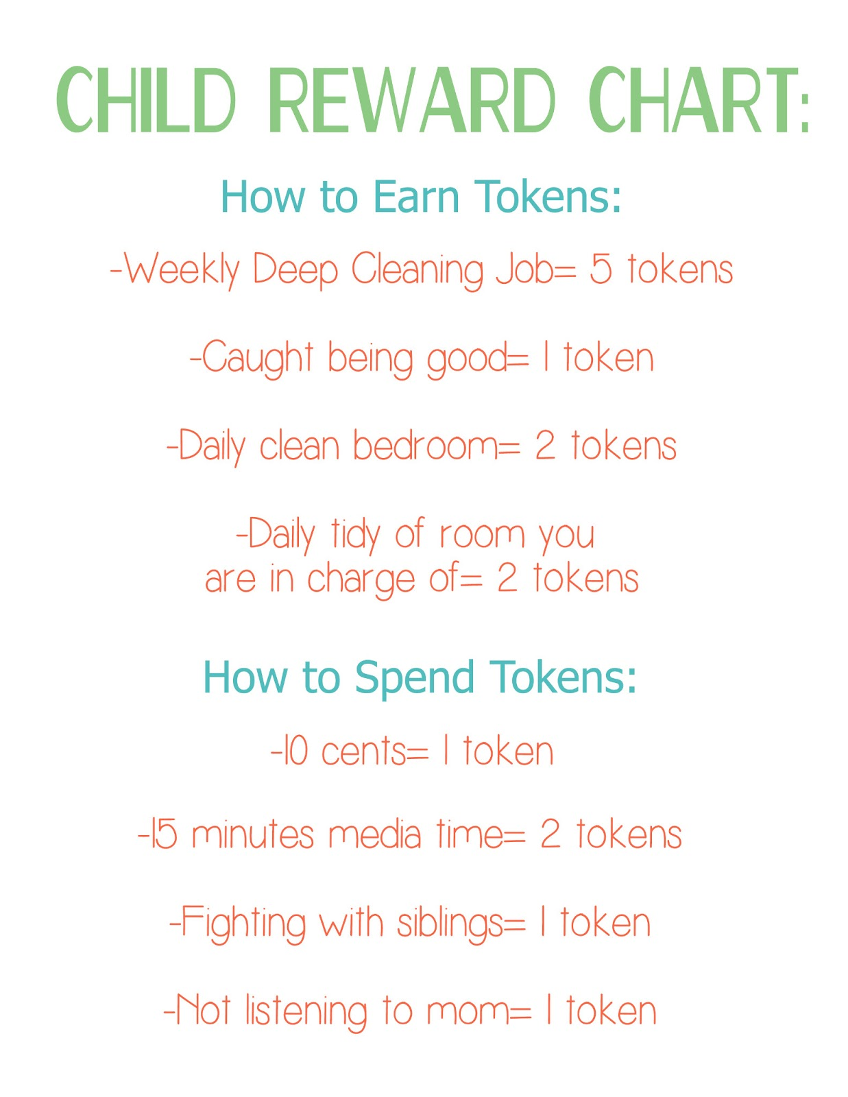 Child reward system using puzzle pieces tips from a typical mom as you can see from the chart that the kids can earn tokens by doing their chores getting caught being good a clean bedroom every day and a daily tidy up geenschuldenfo Choice Image