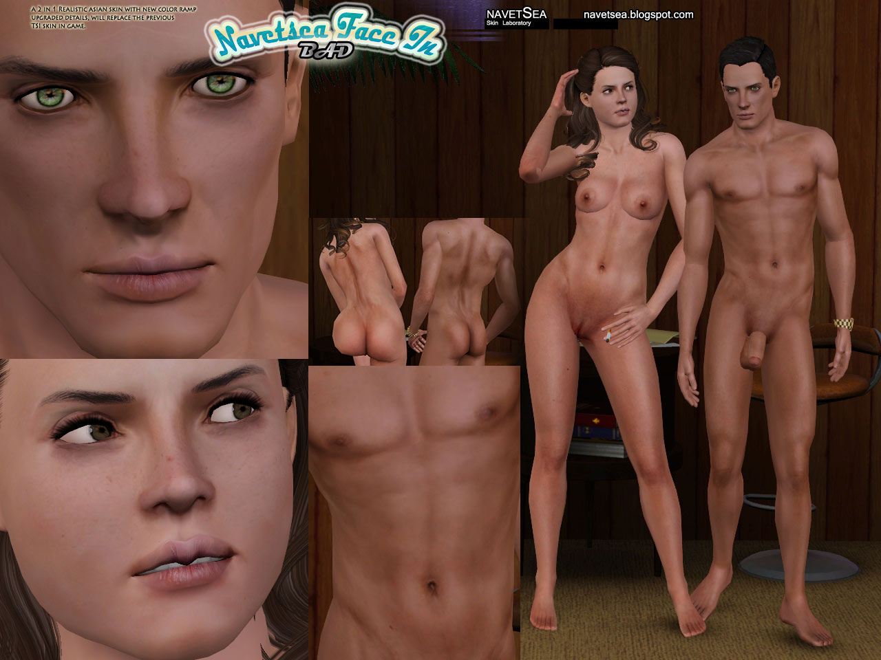 Nude skins for ps sexual scene