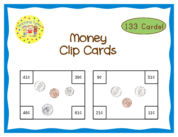 https://www.teacherspayteachers.com/Product/Money-Count-Clip-Cards-Common-Core-Aligned-910239