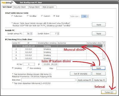 Check list nomor yang telah anda setting IP address-nya -> klik kanan ...