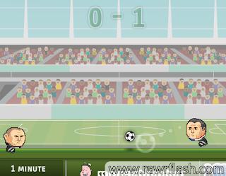 Futebol em 2D. Sports Heads Football Championship.