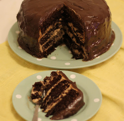 cup of tea solves everything: Chocolate orange layer cake