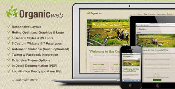 ThemeForest - Organic Web - Environmental WordPress Theme