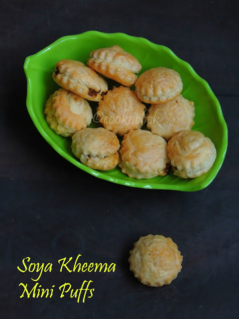 Mini puffs with Soya Kheema