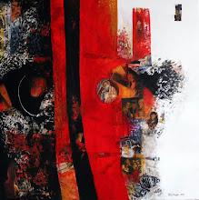 Rouge cardinal - 80 x 80 cm - 2018