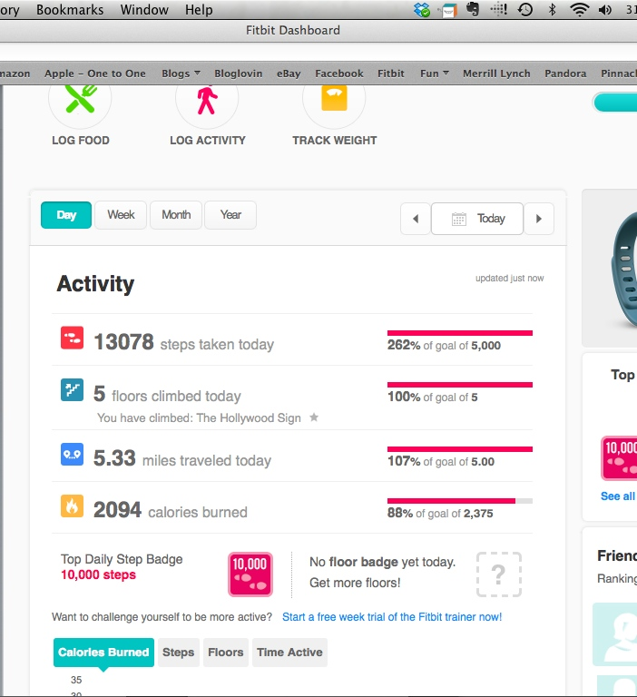 Treadmill Desk Fitbit: Living Happily Ever After...one Year At A Time: February 2014