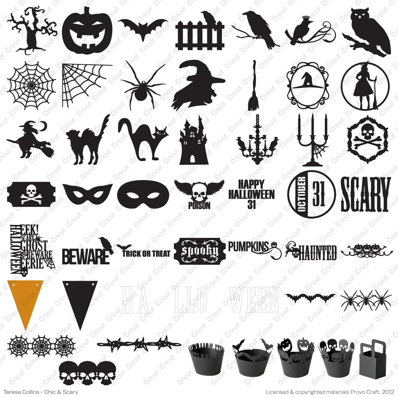 Halloween Cricut Cartridges