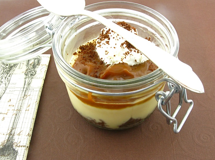 Caramel Budino With Salted Caramel Sauce Recipe — Dishmaps