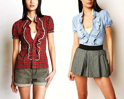 vintage ruffled blouse