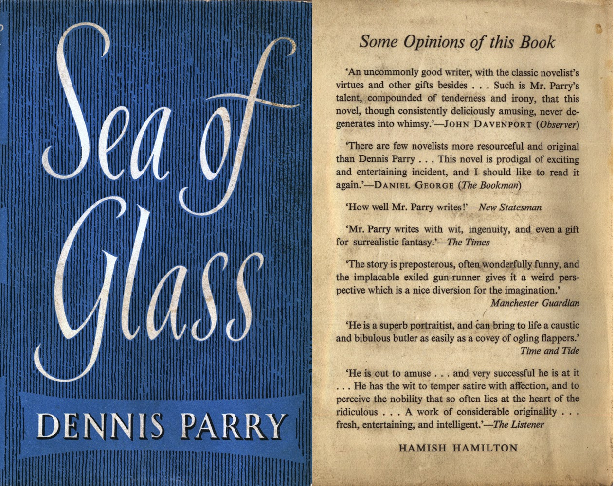 Valancourt books blog sea of glass his last book was one of his most successful earning rave reviews and going into a second edition but unfortunately parry died shortly fandeluxe Images