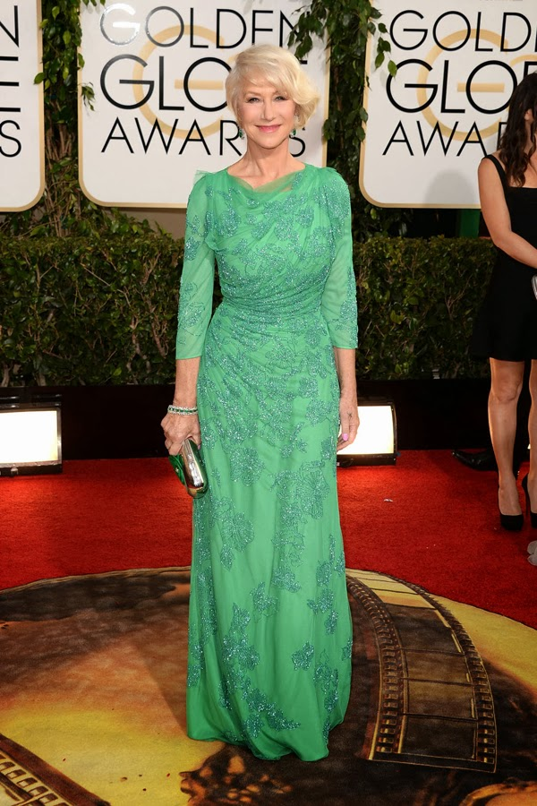 2014 Golden Globes Helen Miran in Jenny Packham