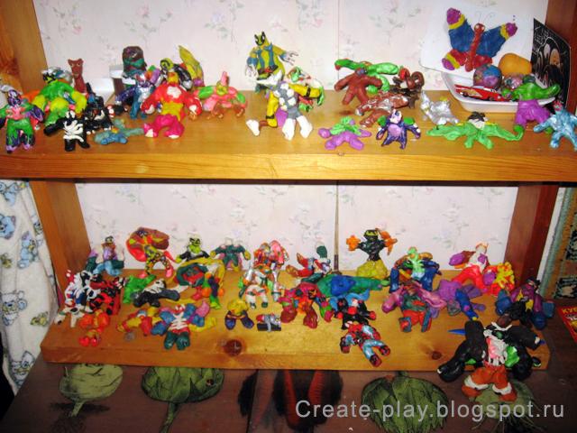 пластилиновые супер-герои