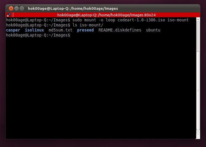 Perintah untuk me-mount file ISO di Linux