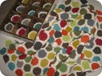 Hæklet tæppe i efterårsfarver