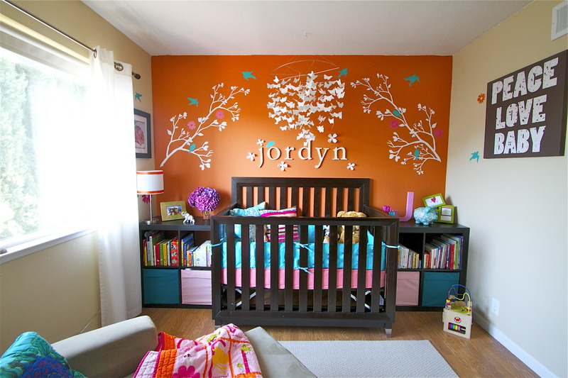 Custom Nursery Art By Kimberly Cool Nursery Color Orange