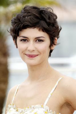 Audrey Tautou Casual Short Hairstyle Curly