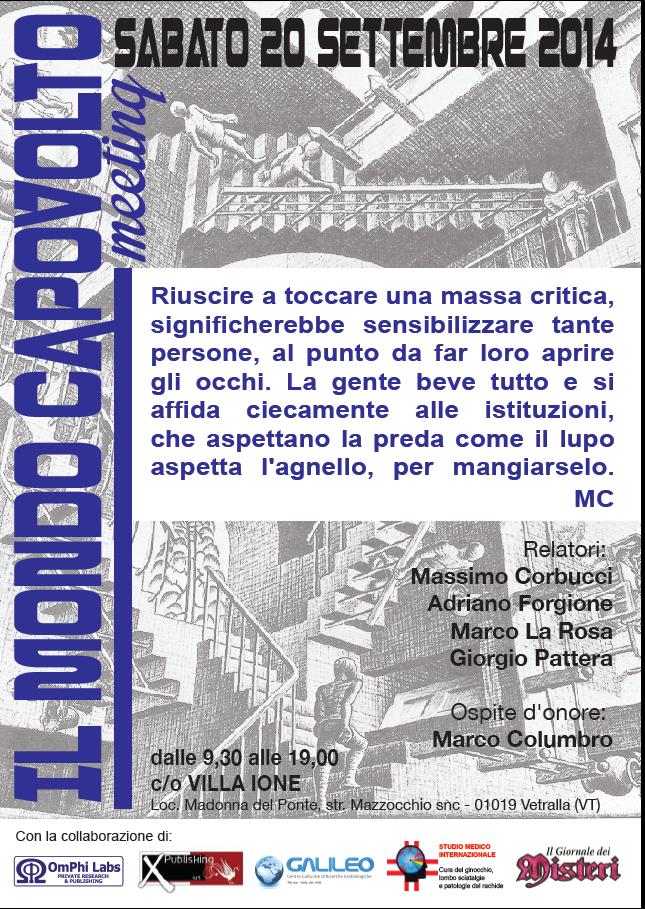 IL MONDO CAPOVOLTO - MEETING -