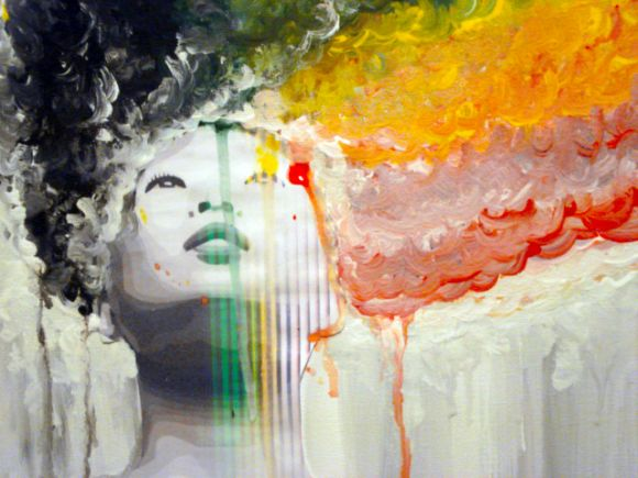 emilie leger foto manipulação digital surreal mulheres modelos sombria Cega para cores