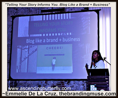 Emmelie De La Cruz of TheBrandingMuse.com speaks at We All Grow Summit speaks at #WeAllGrowNYC 2015