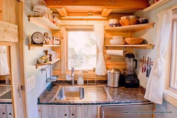 Modern Interior Design Ideas, Corner Shelves Maximizing Small Spaces