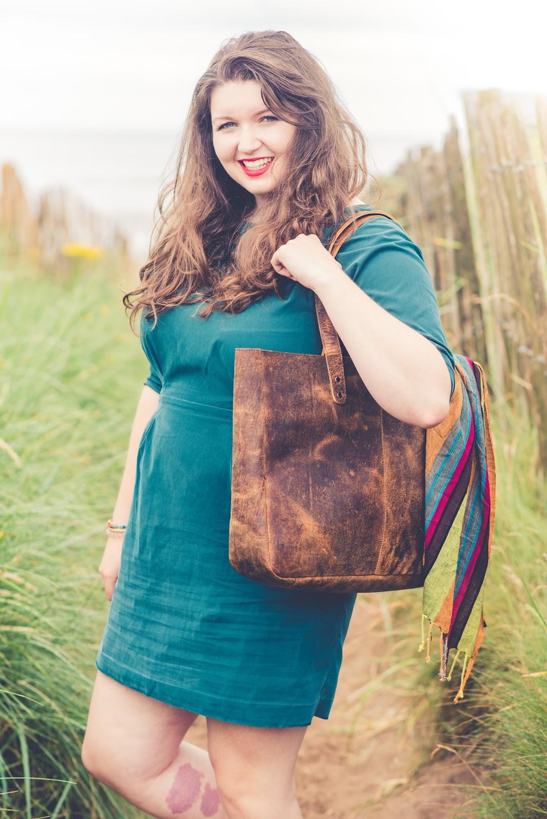 liquidgrain liquid grain Scaramanga Leather Shopper Tote Bag Review & Look