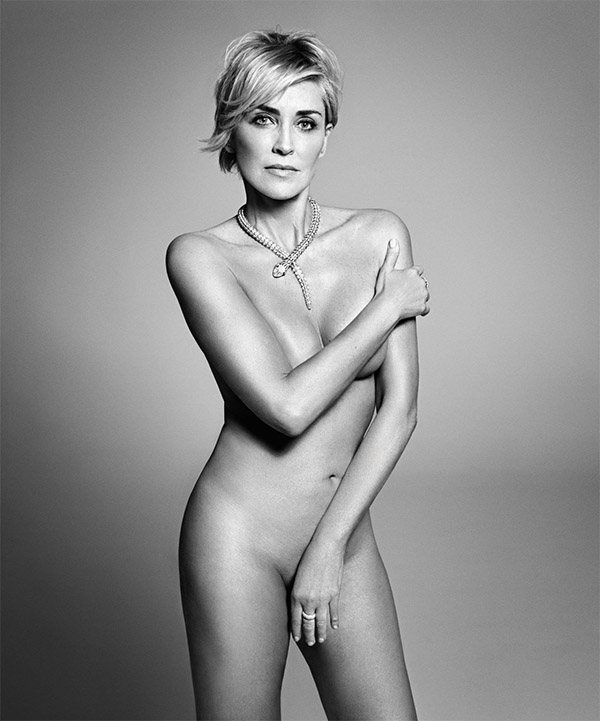 Sharon Stone desnuda para Harper´s Bazaar