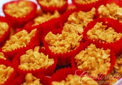 Resipi Biskut Raya Cornflakes Madu