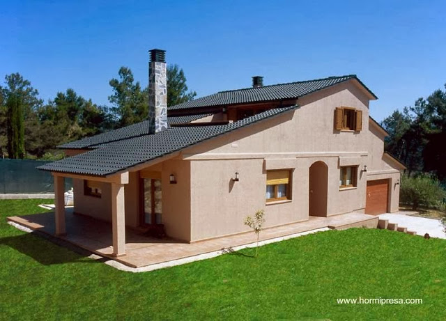 Casa prefabricada española tipo chalet