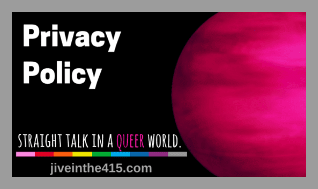 "Jive in the [415] Privacy Policy Page 650px ""Privacy Policy - straight talk in a queer world - jiveinthe415.com"""