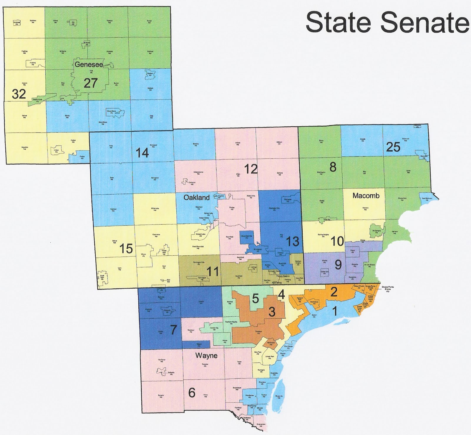 Michigan Redistricting Republican State Senate Map Passed Rrh