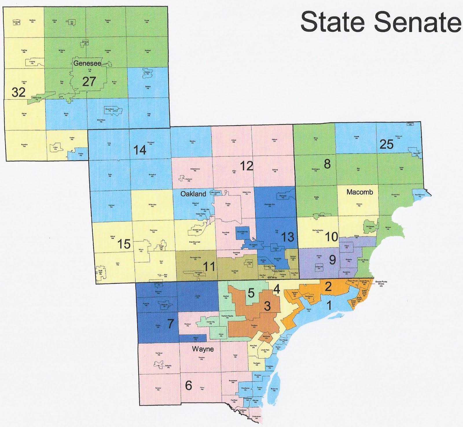 Michigan Redistricting: Republican State Senate Map Passed