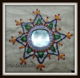 mirror work embroidery