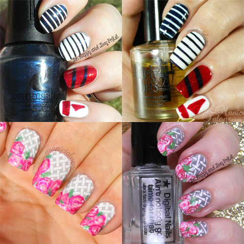 Manic Talons and Be Happy and Buy Polish Mani Swap