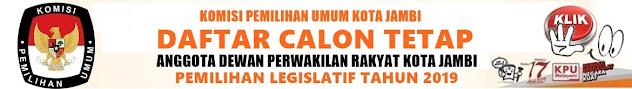 DCT DPRD Kota Jambi Pemilu 17 April 2019