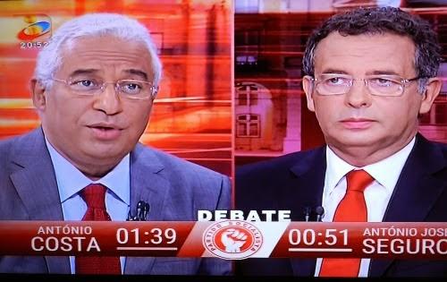 António Costa e Tozé Seguro: 1º debate TVI