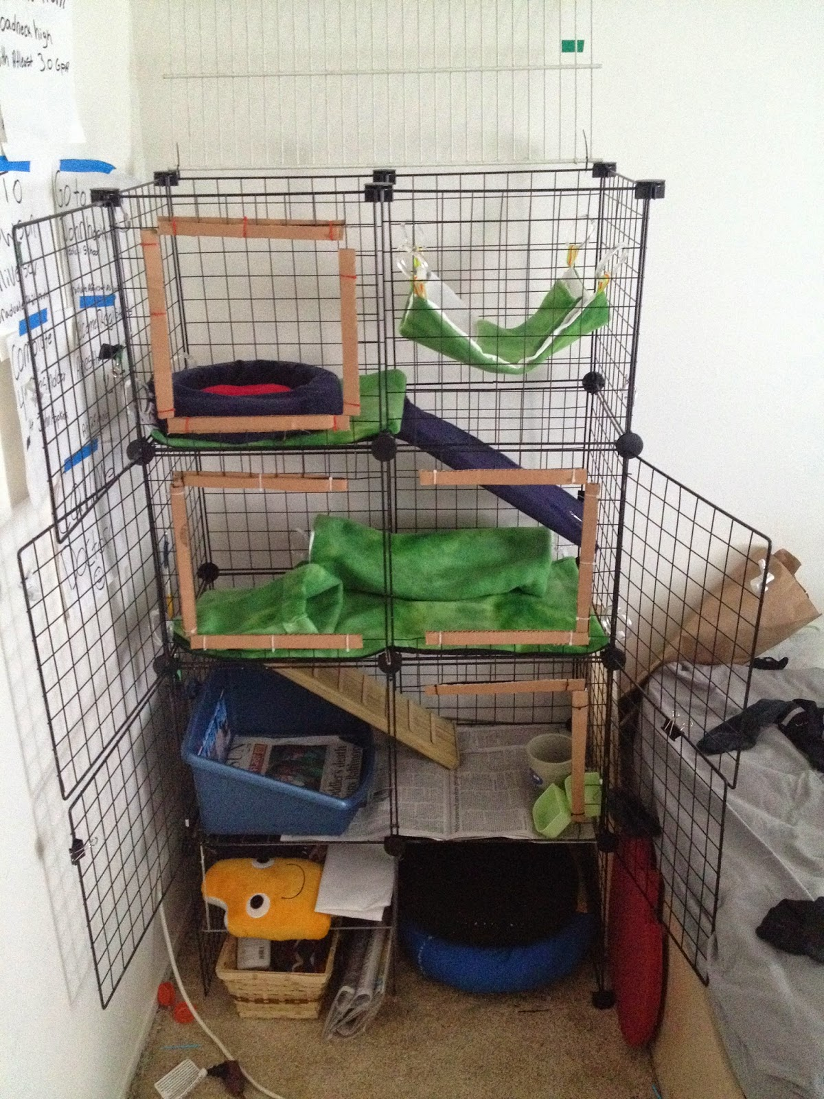 Diy ferret cages the image kid has it for Where to get c c cages