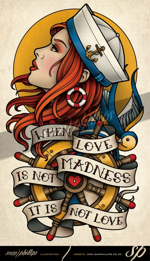 Sailor love tattoo quotes quotesgram for Sailor jerry gypsy tattoo