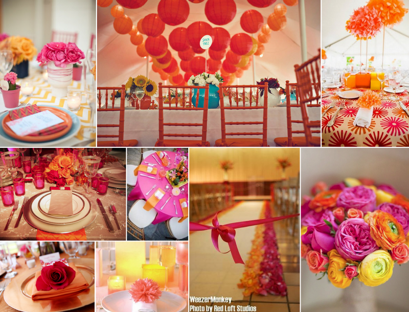 simple wedding centerpieces and bouquets color themes