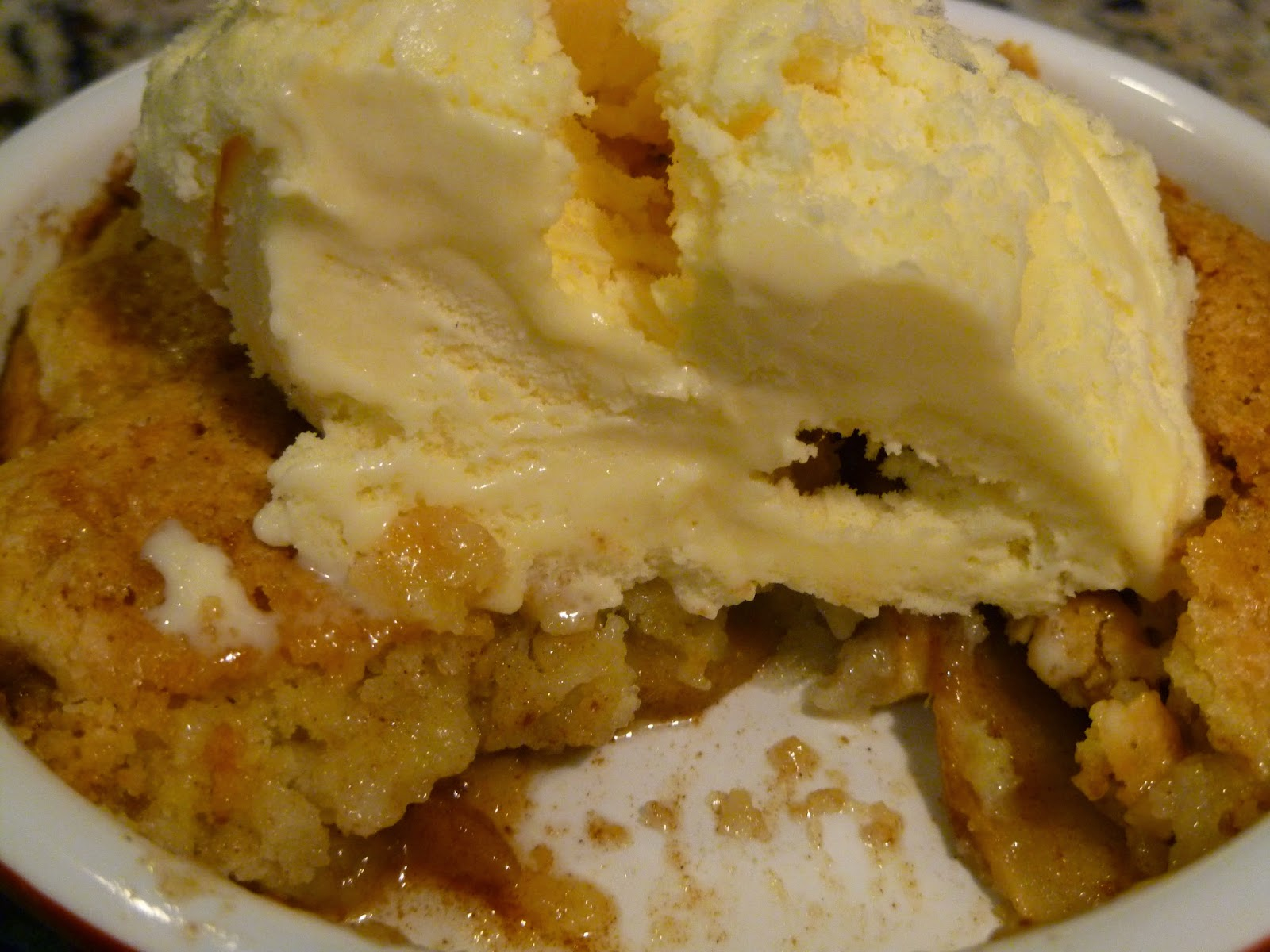 was in the mood for a warm apple cobbler topped with vanilla ice ...