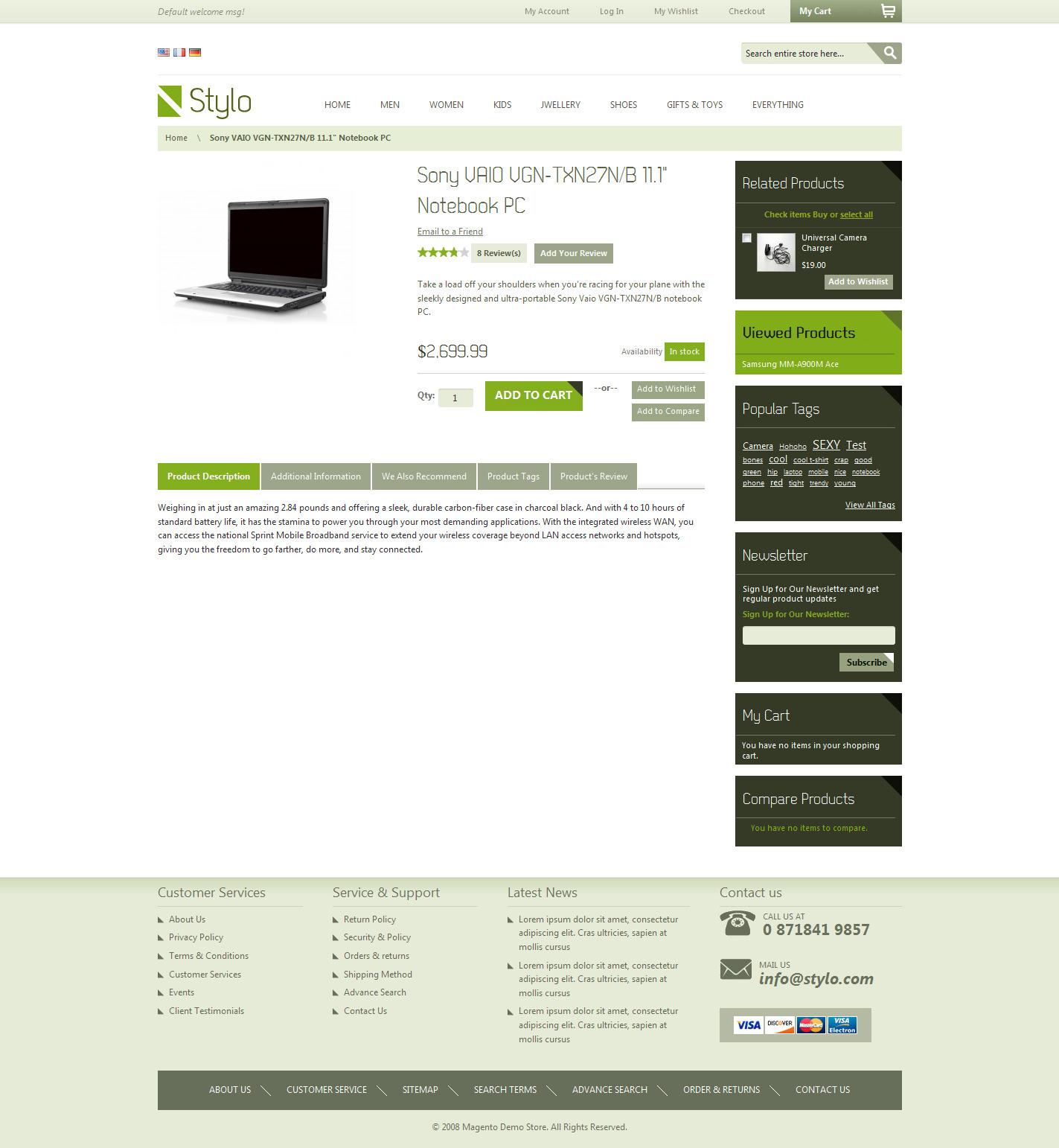 Stylo-Magento-Premium-Stylish-Online-Store-Templates